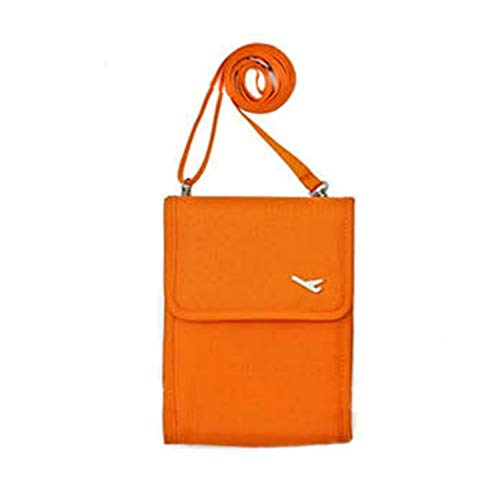 FEDULK Womens Multi-Function Shoulder Pack Travel Mini Card Case Coin Purse Bags with Adjustable Strap(Orange)