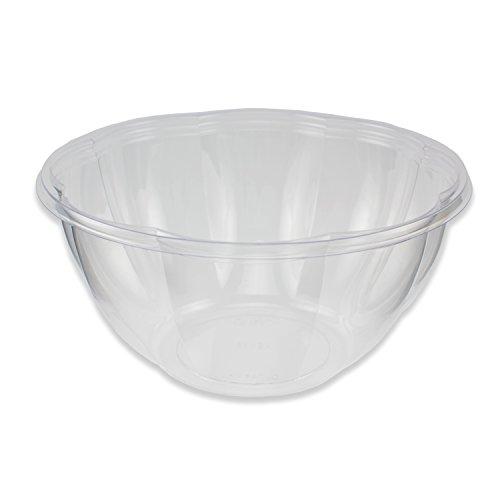 Jaya 100% Compostable Clear PLA Salad Bowl, 32-Ounce, 300-count case (Pla Bowl)
