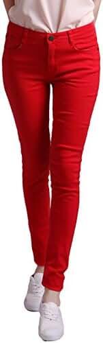 HDE Women's Jeans Jeggings Five Pocket Stretch Denim Pants