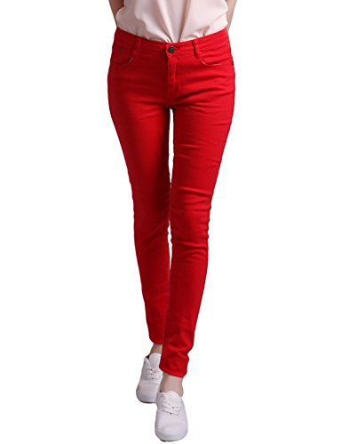 HDE Women's Jeans Jeggings Five Pocket Stretch Denim Basic Slim Fit Skinny Pants