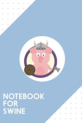(Notebook for Swine: Dotted Journal with Viking pig in purple circle Design - Cool Gift for a friend or family who loves pork presents! | 6x9