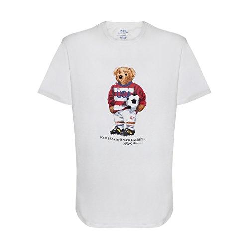 Polo Ralph Lauren Mens Limited Polo Bear T-Shirt (Large, White/Soccer)