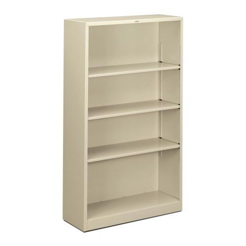 Hon Hon Metal Bookcase - HON Steel Bookcases-4 Shelf Metal Bookcase, 34-1/2