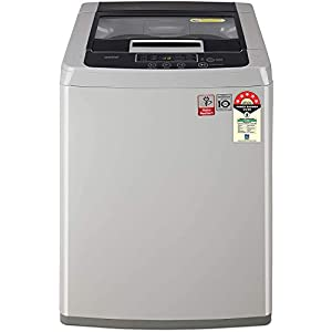 LG 7.5 Kg 5 Star Smart Inverter Fully-Automatic Top Loading Washing Machine (T75SKSF1Z, Middle Free Silver)