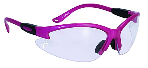 SSP Eyewear BULLHPK CL A/F Bullchuckar Sportsman Glasses with Hot Pink Frames and Clear Anti-Fog Lenses, Hot - Glasses Hot Pink Safety