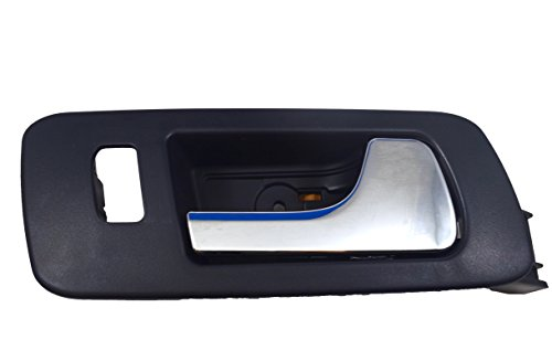 PT Auto Warehouse GM-2323MA-FR - Inside Interior Inner Door Handle, Black (Ebony) Housing with Chrome Lever - Passenger Side Front (2009 Cadillac Sts Door Handles)