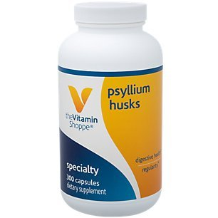 Psyllium Husks – Plantago Ovata Fiber Supplement That Supports Regularity Healthy Cholesterol, 840 mg per Serving Gluten Free (300 Capsules) by The Vitamin Shoppe