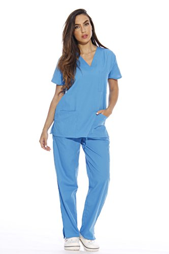Just Love 22254V-M Malibu Blue Women's Scrub Sets/Medical Scrubs/Nursing Scrubs