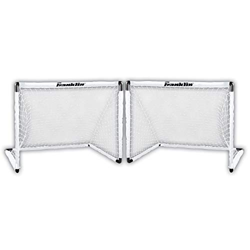 Franklin Sports Two Soccer Goal Set - 54 x 36 Inch - Futsal Goal Nets