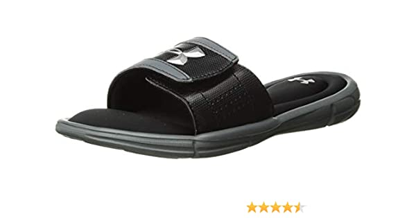 d925f6eca6f Amazon.com   Under Armour Kids' Ignite V Slide Sandal   Sport Sandals