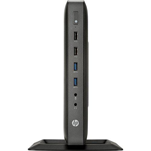 HP G4U32UA#ABA Flexible Thin Client T620 Tower Desktop, 4 GB RAM, 8 GB SSD, AMD Radeon HD 8330E, Black