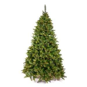 Vickerman Pre-Lit Cashmere Pine Tree with 100 Multicolored Italian LED Lights, 3.5-Feet, Green
