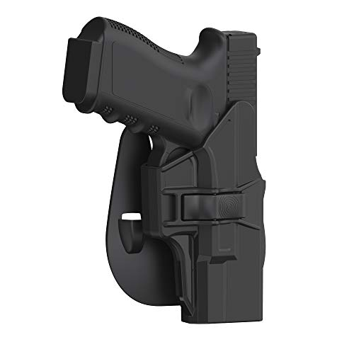 Bedone Glock 19 Holster, OWB Paddle Holster for Glock 19 23 32 45(Gen 1 2 3 4 5), Outside Waistband Carry Polymer OWB Holster with Adjustable Paddle, Right-Handed