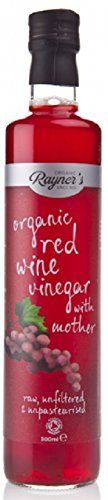 Rayners Organic Raw Red Wine Vinegar With Mother 500ml