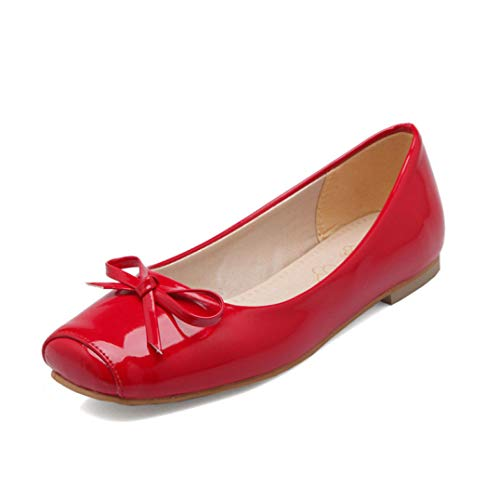 Lujeck 2019 New Flats Shoes Women Square Toe Shallow Casual Comfortable Ladies Shoes Solid Colors