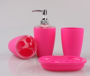 hot pink bathroom accessories - 1
