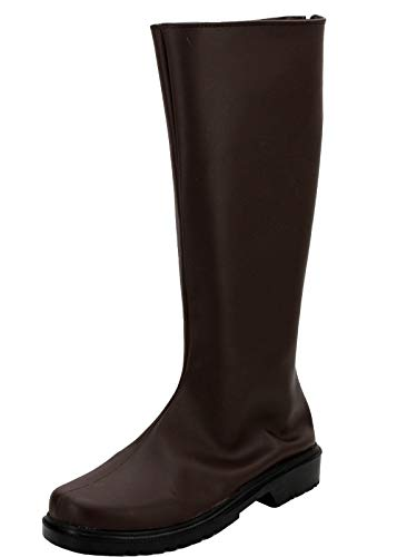 GOTEDDY Demon Cosplay Shoes Halloween Brown Leather Costume Boots (8.5 US Male)]()