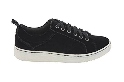 Fashion Sneakers Black Top Lace Zag Up Low Earth Velvet Womens 8n40AA