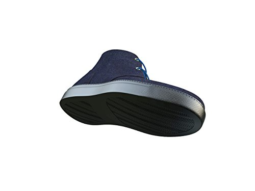 Yuri Sconosciuti - Scure Dei Jeans-sneaker-boots Vostro Molto Proprio Lusso Sneaker Scuro Denim-pelle, 100% A Mano In Italia
