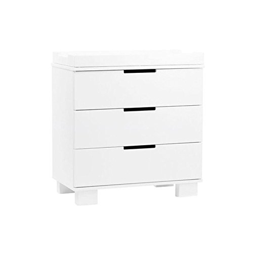 Babyletto Modo 3-Drawer Changer Dresser with Removable Changing Tray, White