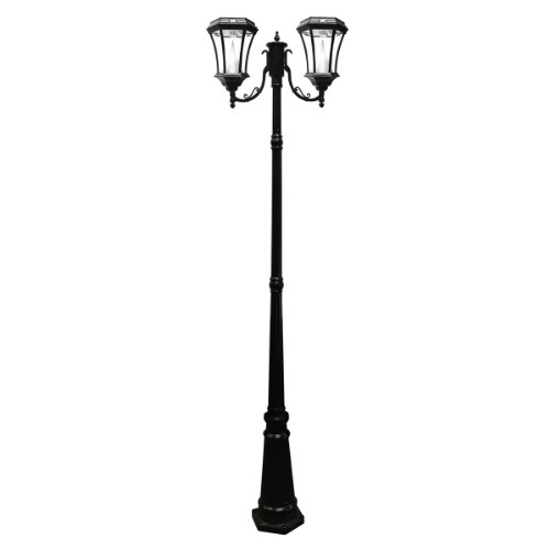 Gama Sonic Victorian Double Solar Lamp Post in US - 2