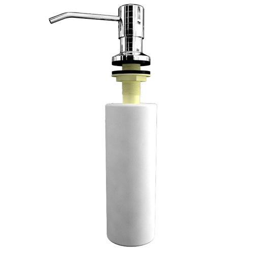 Ultimate Kitchen Best Stainless Steel Sink Soap Dispenser Polished Large Capacity 17 Oz