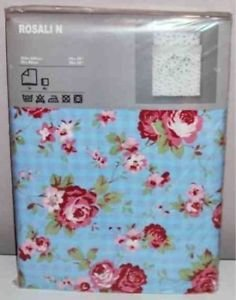 ikea cath kidston design blue rosali single duvet cover with 2 pillow cases. Black Bedroom Furniture Sets. Home Design Ideas