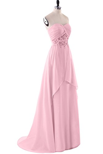 Missdressy Damen Neu Elegant Lang Chiffon A-Linie Herform Falte Abenkleid Partykleid