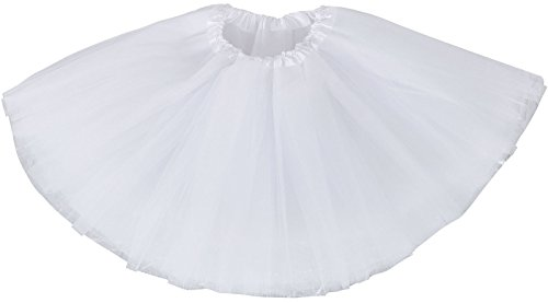 Baby's 4 Layered Tulle Classic Princess Dress-up Tutu Skirt,White,6-18 month