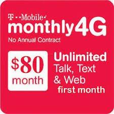 [$80 T-Mobile Prepaid Plan