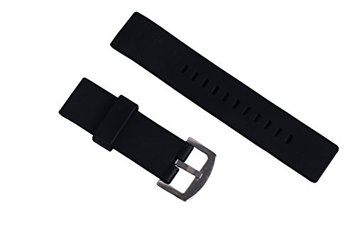 Swatch Replacement Rubber Strap Watch 22mm (Black) - 9