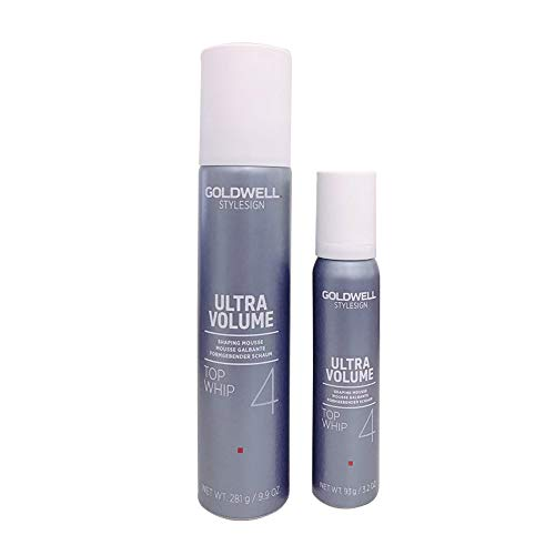 Goldwell Stylesign Ultra Volume Top Whip 4 Shaping Mousse 9.9oz/Travel Sizes 3.2oz ()