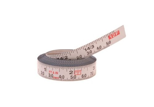 Delta 79-056 12-Foot Right-1/2-Inch Wide Metric/English Adhesive-Backed Measuring Tape