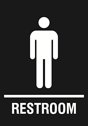 Amazoncom Men Restroom Black Sign Public Bathroom Signs - Public bathroom signs