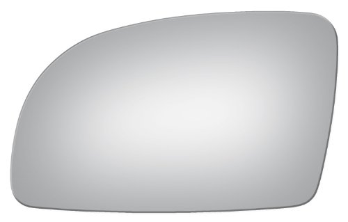(Flat Left Driver Replacement Mirror Glass Lens Only for 98-00 Vw Beetle)