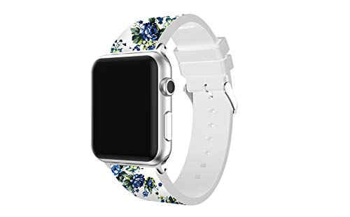 (Japuwy Watch Band Replacement For Apple Watch bands 3 Series Iwatch 38mm women girl Soft Rubber Silicone waterproof strap sports)