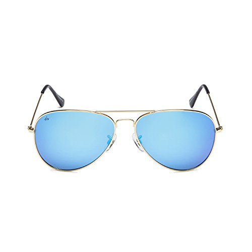 PRIVÉ REVAUX''The Exclusive'' Handcrafted Designer Aviator Eyeglasses (Gold/Blue) by PRIVÉ REVAUX