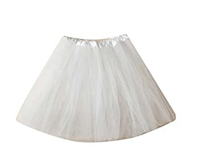 Sweatwater Womens Dance Skater Tulle Tutu Pleated A-Line Solid Mini Skirt