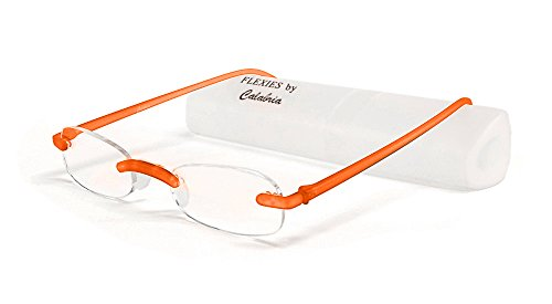 Calabria Reading Glasses - 715 Flexie in Tangerine +0.75