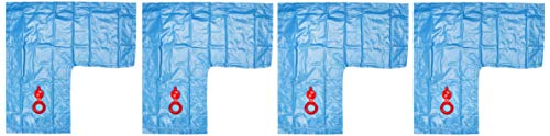 Robelle 3802-04 Deluxe 16g. Blue 2-Foot Corner Winter Water Tube For Swimming Pool Covers, 4-Pack ()