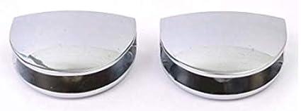 con acabado cromado oficina dormitorio cocina color blanco o negro Estantes de esquina de cristal endurecido de 300 mm de grosor para ba/ño