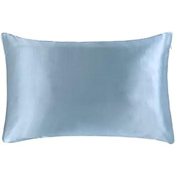 OOSILK Mulberry Silk Gift Wrap 20 x 36 Inch Pillowcase, King, Light Blue