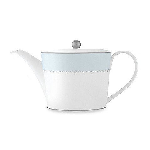 Monique Lhuillier Lily Of The Valley Blue Teapot 5.25