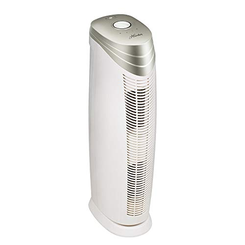 (Hunter HT1701 Air Purifier with ViRo-Silver Pre-Filter and HEPA+ Filter for Allergies, Germs, Dust, Pets, Smoke, Pollen, Odors, for Large Rooms, 27-Inch Champagne/White Air Cleaner)