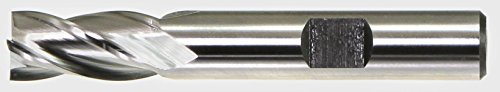 "Drillco 5150A Series High-Speed Steel Regular Length Finishing Center Cutting End Mill, Uncoated (Bright) Finish, 4 Flute, 30 Degrees Helix, Square Nose End, 1-5/8"" Cutting Length, 3/4"" Cutting Diameter, 3-7/8"" Length, 3/4"" Shank Diameter Review"