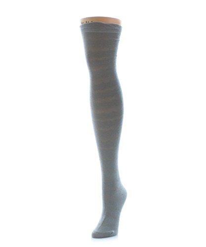 (MeMoi Femme Wave Over The Knee Warm Socks Paloma Gray MS5 800 One Size)