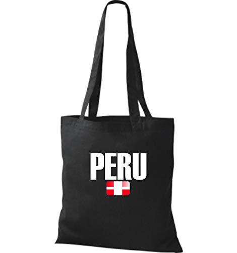 Land Bolsa Negro Tela Shirtstown De Fútbol Yute Países Perú qXT85wxR
