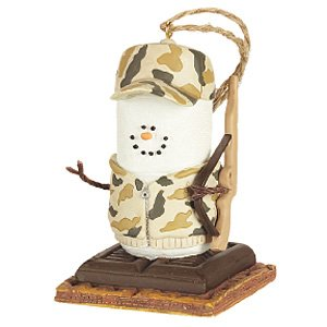 "3"" S'mores Camouflage Hunter Christmas Ornament"
