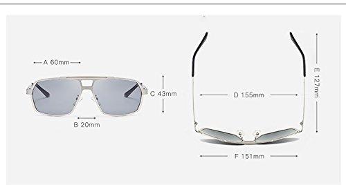 Golden para Gunes con Gafas Conducción polarizadoras de Gozlogo Hombres Fresco Color Gafas Hombres Gun Sol Tan Moto Casual GP polarizadas Yumeik Gafas qOwTRR