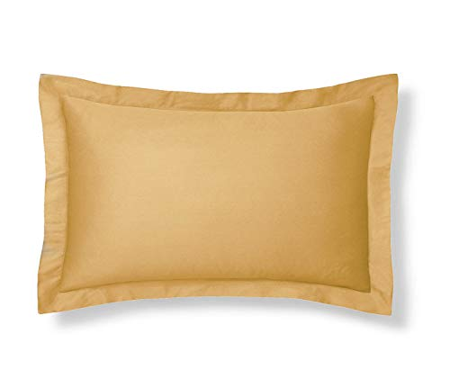 Harmony Lane Classic Tailored Pillow Sham - Queen, Gold Sham (Available in 16 Colors) (Gold Sham)